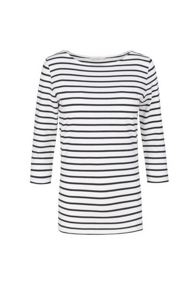 armed angels uk organic cotton black striped top