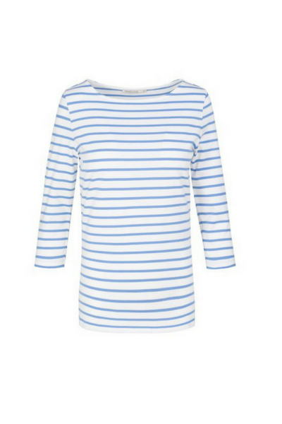 armed angels organic cotton blue striped top ethical fashion