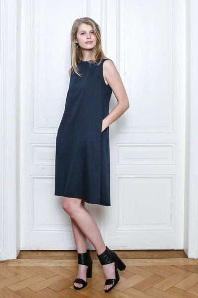 Daruma Organic Cotton Satin Dress