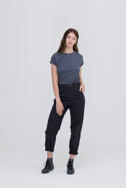 Ethical brands grey organic cotton bamboo T Shirt