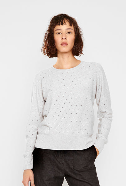 Swedish cashmere light grey jumper