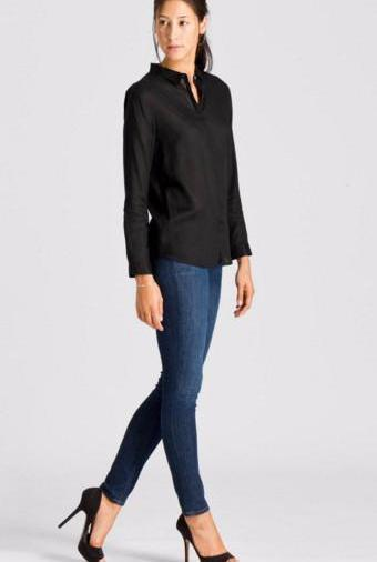 Armed Angels Aida shirt in black Tencel