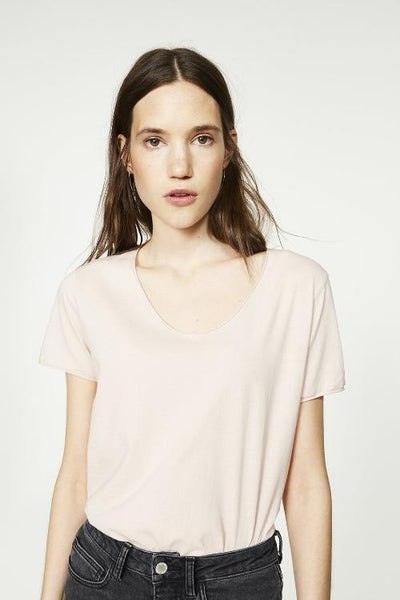 Hedi Organic Cotton T Shirt - Soft Pink
