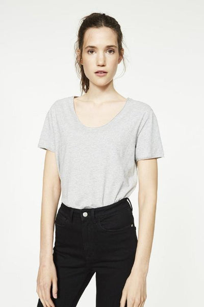 Hedi Organic Cotton T Shirt - Grey