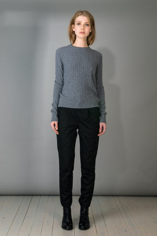 Iris Light Cable Knit Sweater