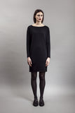 Black wool dress ethical clothing brands Maska