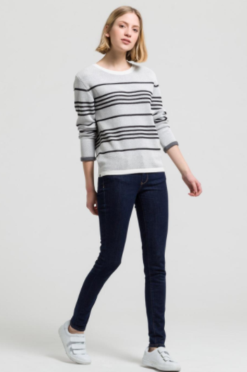 organic light striped jumper
