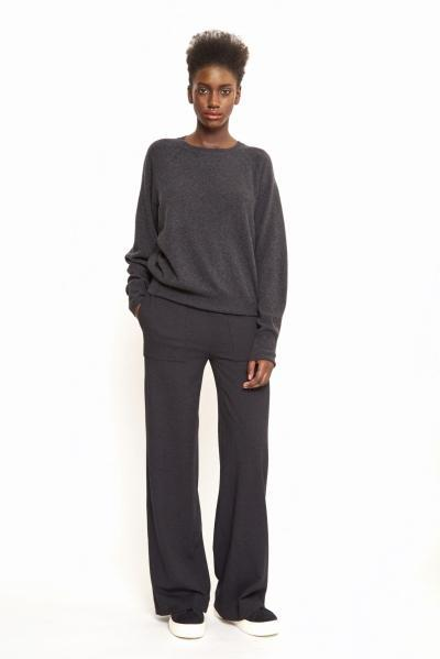 dark grey wool jumper ethical fashion maska