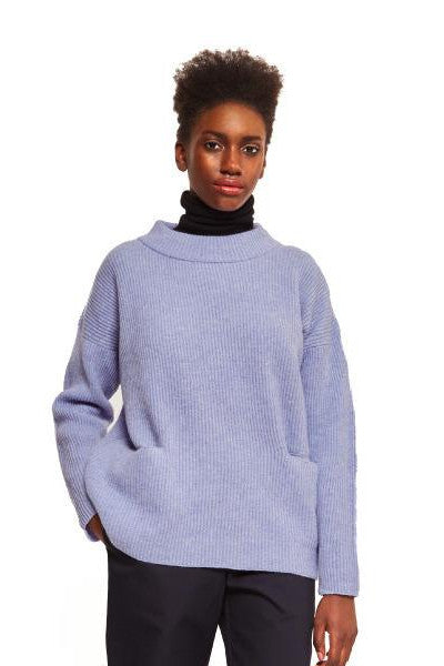 ethical fashion lambswool lilac wool jumper