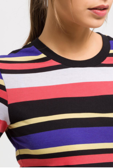 Striped Silky-Cotton Top