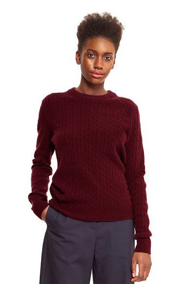 cashmere jumper burgundy ethical fashion by maska