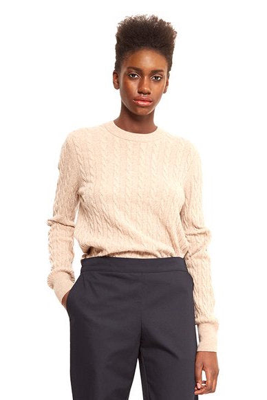 cashmere jumper cream ethical fashion by maska