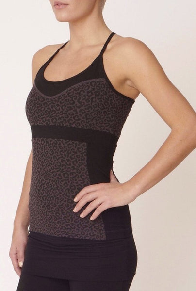 Ecofriendly Yogatop Black Leopard Asquith Free UK delivery