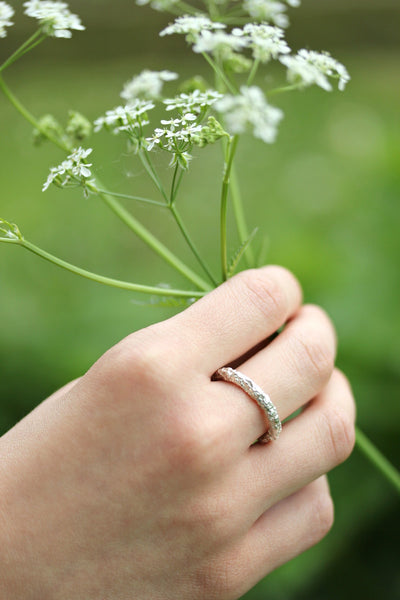 Fairmined Silver Lichen Ring