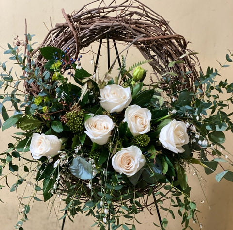 "Wreath 16"" Natural Fresh"