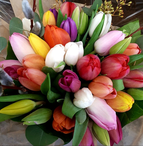 Rainbow Tulip bouquet