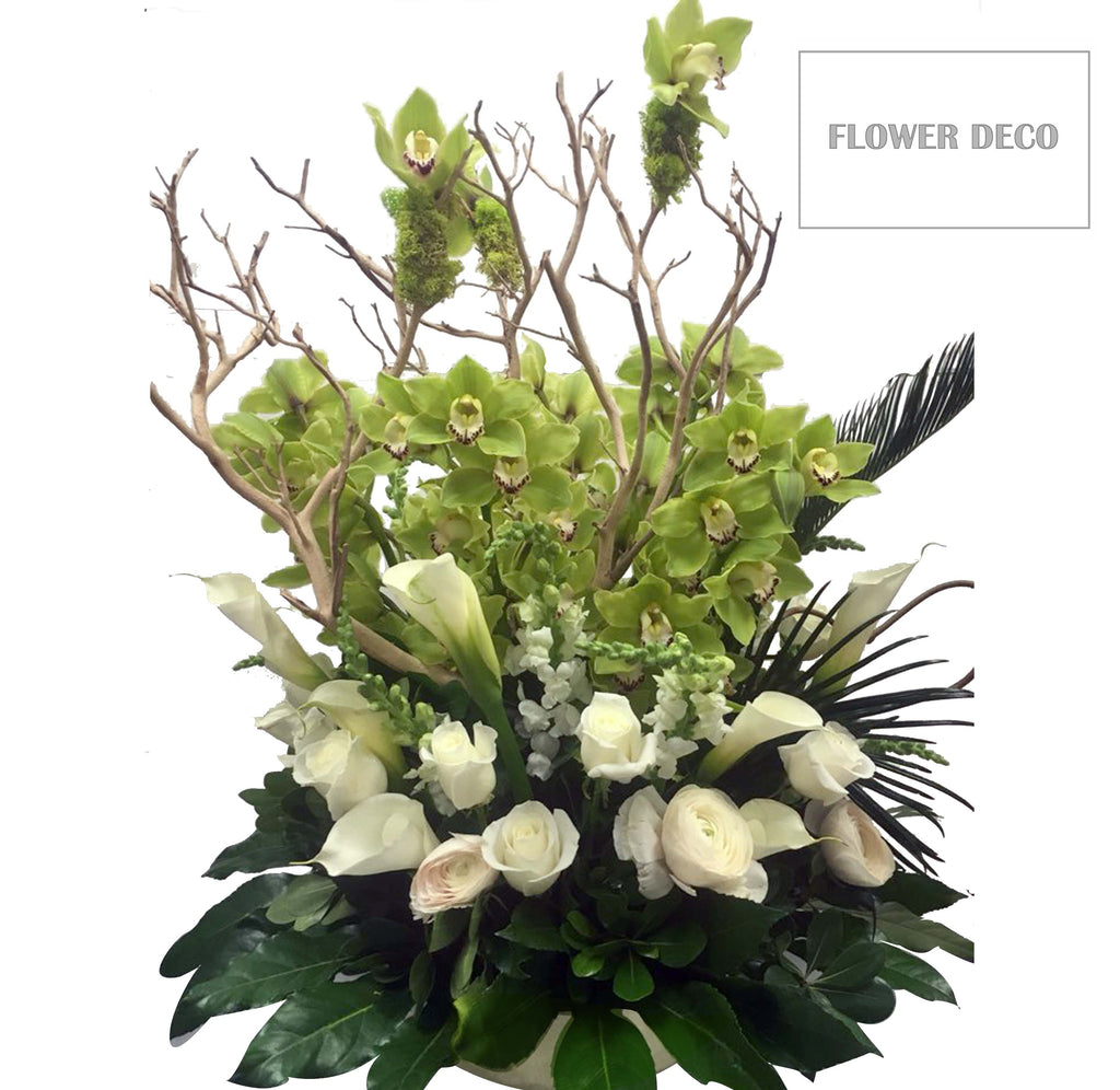 Cymbidium Tree Arrangement