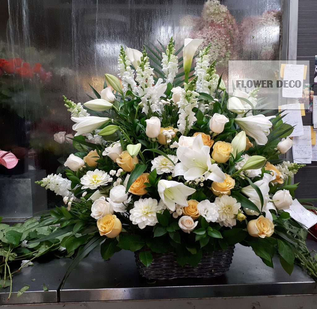 Soft Colour Funeral Basket