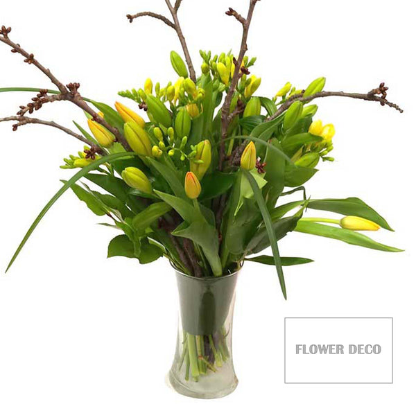 Lily, Tulip and Freesia Bouquet