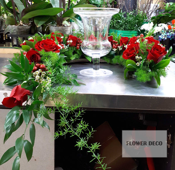 Urn Arrangement - Red