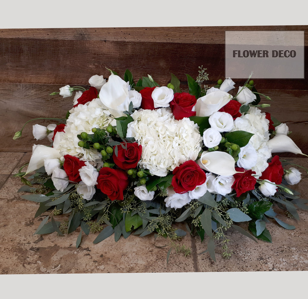 Urn/Frame Arrangement - Red and White