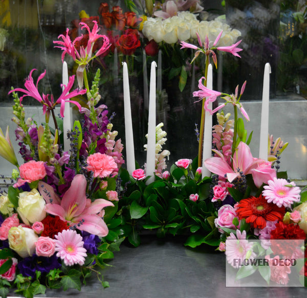 Urn Arrangement with candle