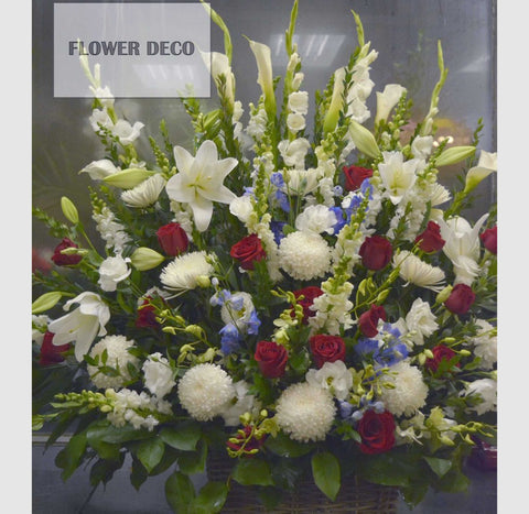 White, Red and Blue Arrangement