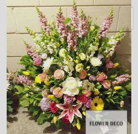 Assorted Flower Funeral Arrangement