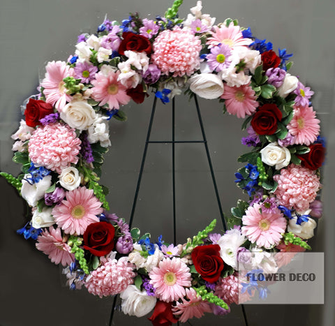 "Wreath 24"" Round Assorted"