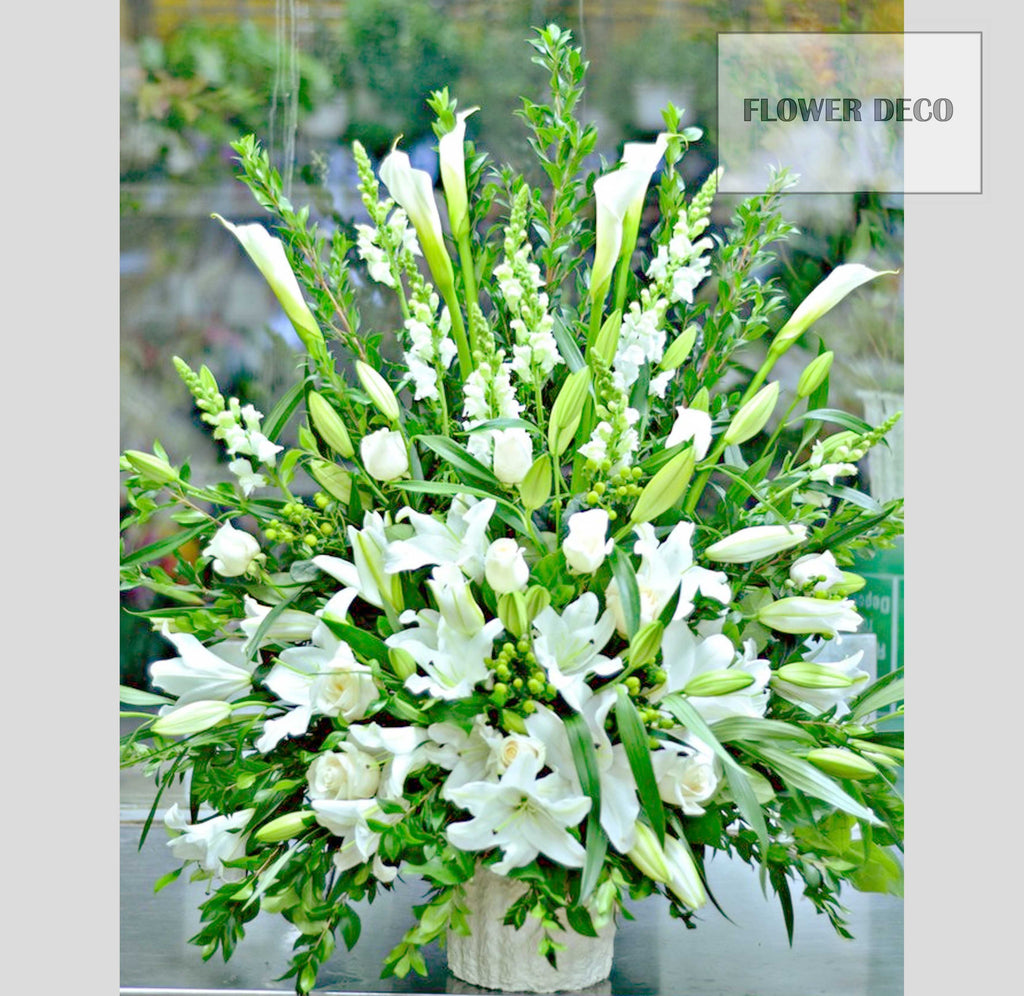 Elegantly White Arrangement
