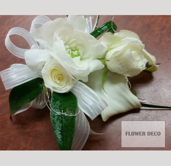 Mixed White Flower Corsage