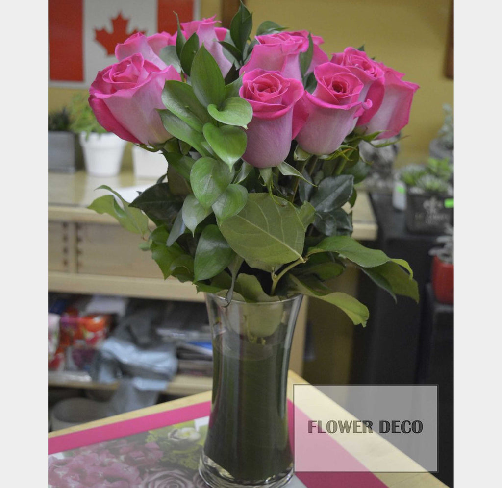 Pink Rose Bouquet(Vase)