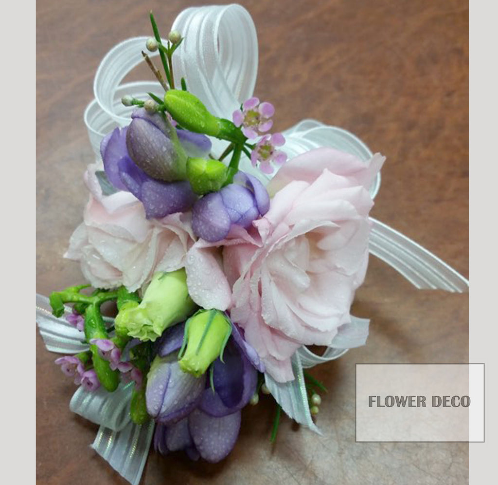 Pink and Purple Corsage
