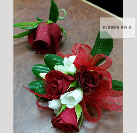 Red Rose Boutonnieres or Corsage