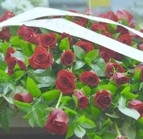 Casket Spray Red Rose  - Open