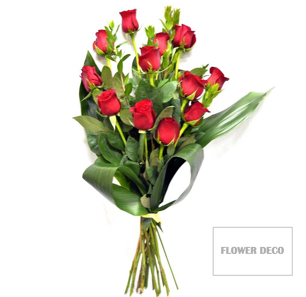 Dozen Long Stem Red Roses Bouquet
