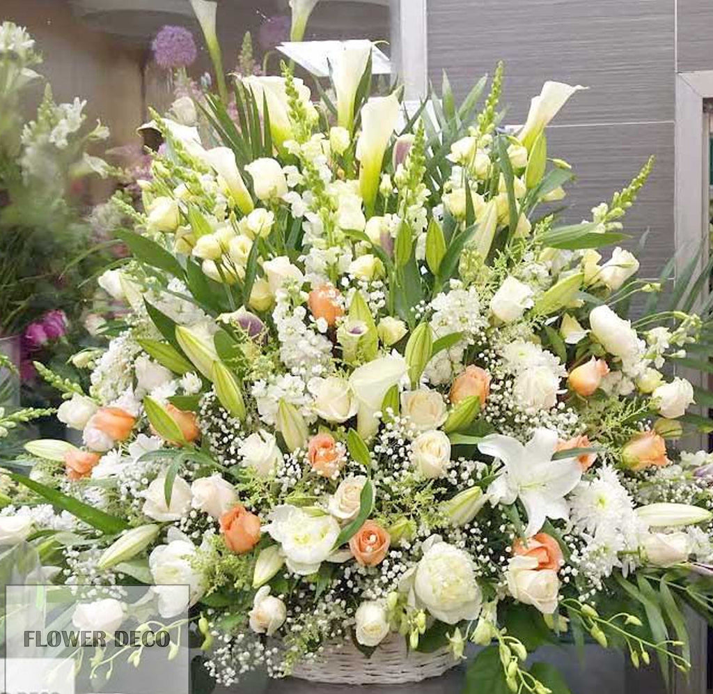 Soft Colour Funeral Arrangement
