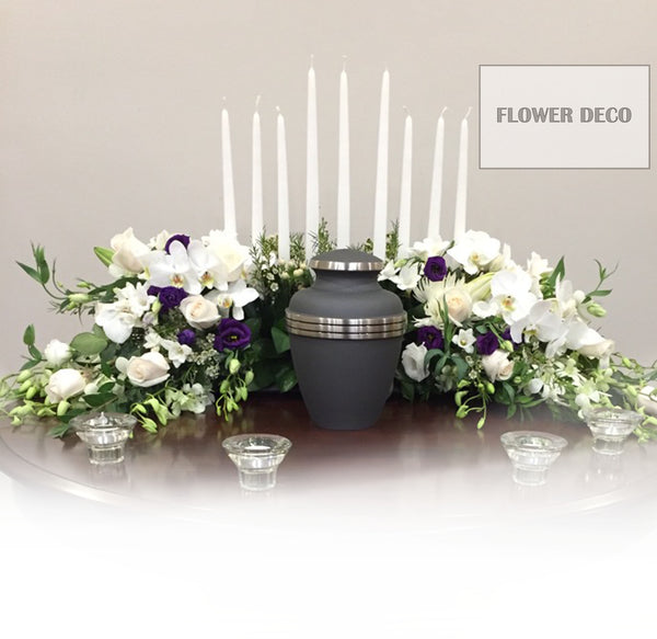 Urn with Candle Arrangement