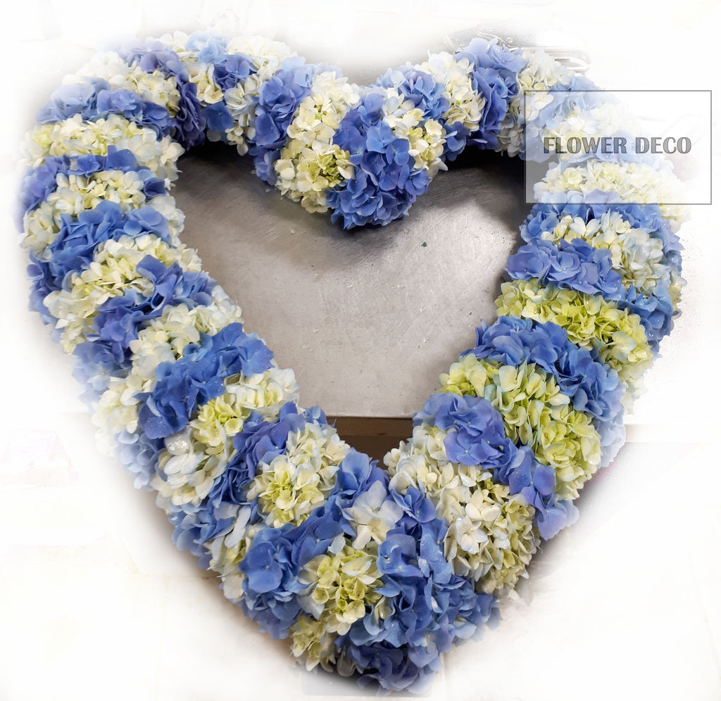 Wreath Blue and White Hydrangea