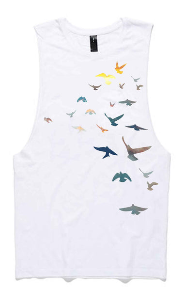What the Flock Organic Cotton Bamboo Unisex Tank - Free Spirit
