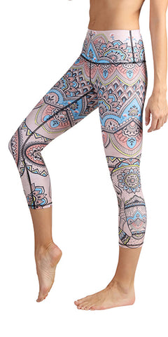 Mystic Elephant Yoga Leggings (Crops)