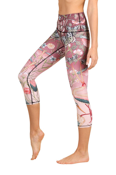 Pretty In Pink Yoga Leggings - CROPS