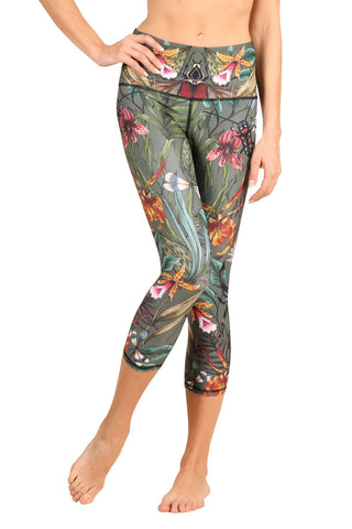 Green Thumb Yoga Leggings - CROPS