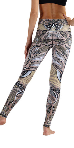 Desert Goddess eco yoga leggings from Yoga Democracy. Eco hot yoga gear