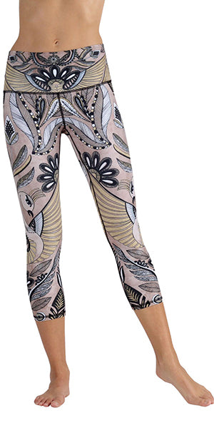 Desert Goddess Yoga Leggings (Crops)