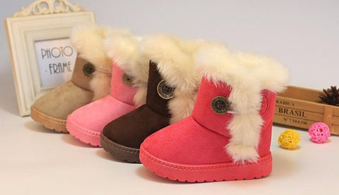 Boots Winter Thick Warm Cotton-Padded for Girls