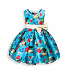 Dress for Girls Cartoon Bow Sleeveless - 2 Styles