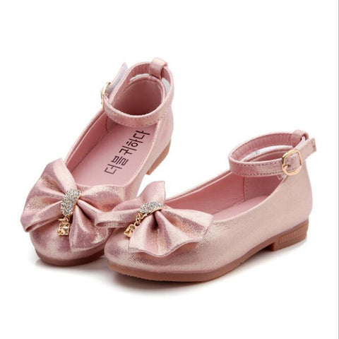 Princess Shoes Soft Sole PU Leather for Girls