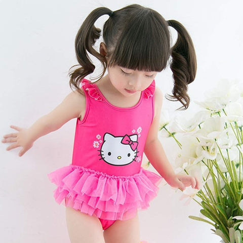 Swimwear One Piece Cartoon for Girls