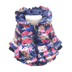 Coat with Hoodie Flower for Girls Long Sleeve - 2 Colors